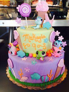 #birthdaycake #girlybirthdaycake #childbirthday #brightcolorfulcake #mylittlepetshopcake #candythemecake www.enchantingcake.com