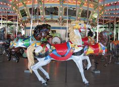 Kennywood, Dentzel. From our trip this summer. Disappointed in how bad the paint looked on many of the horses.