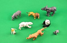 Vintage Miniature Plastic  Wild Animals by SmilingMemories on Etsy