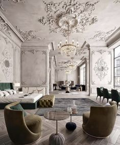 beautiful green modern style living room decor 16 « Home Design