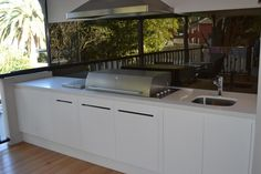 Outdoor Kitchen Design Ideas - Photos of Outdoor Kitchens. Browse Photos from Australian Designers & Trade Professionals, Create an Inspiration Board to save your favourite images. Design Your Kitchen, Big Kitchen, Kitchen Decor, Kitchen Designs, Kitchen Ideas, Awesome Kitchen, Build Outdoor Kitchen, Outdoor Kitchen Design, Outdoor Cooking