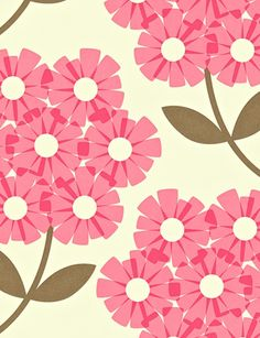Harlequin -- Giant Rhododendron by Orla Kiely