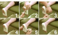 Plantar Fascia Taping - recover from plantar fasciitis by using the RICE method - rest, ice, compression, elevation. Taping your feet is an effective form of compression.