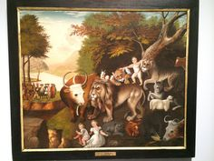 The Peaceable Kingdom with the Leopard of Serenity, Attributed to Edward Hicks, A Shared Legacy Exhibit at the American Folk Art Museum