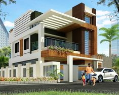 Modern house plans offer a great alternative to the more traditional styles.Unlike age-old properties, new apartments and homes are built to optimize the comfort of modern housing. Modern Exterior House Designs, Modern House Facades, Modern Architecture House, Modern House Design, Exterior Design, House Outside Design, House Front Design, Small House Design, Bungalow House Design