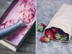 Strawberry Rhubarb Ripple Froyo