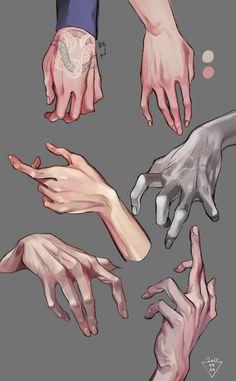 Digital Painting Tutorials, Digital Art Tutorial, Art Tutorials, Digital Paintings, Paintings Of Hands, Drawing Tutorials, Drawing Poses, Drawing Sketches, Art Drawings