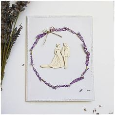 misha_cards / Svadobná pohľadnica s levanduľou