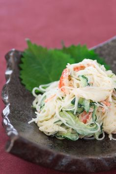 Kani Salad, an easy Japanese-American favorite with a delicious balance of flavors, textures and colors.