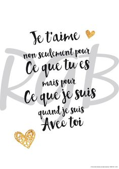 Valentine's Day Quotes : QUOTATION - Image : Quotes Of the day - Description Affiche papier citation et texte d'amour The Words, Best Quotes, Love Quotes, Inspirational Quotes, Love One Another Quotes, Text Poster, Quotes Distance, I Love You, My Love