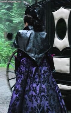 regina evil queen once upon a time black and purple outfit season 1 episode 9 - Google Search