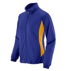 You'll stand out, front and center, in our WOMEN'S MEDALIST JACKET. The heavyweight 100% polyester brushed tricot weave is equipped with a center front zipper, ...