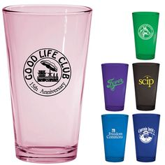 Promotional 16 oz Custom Glow Pint Glass | Customized Bar Glassware | Promotional Bar Glassware