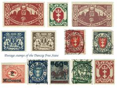 Old stamps from Danzig Old Stamps, Vintage Stamps, Price Of Stamps, Desktop Background Images, Going Postal, Stamp Catalogue, Free State, Danzig, Europe