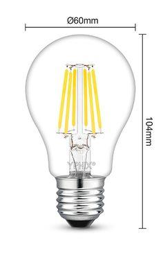 Dimbare filament E27 LED lamp Atlas 7,5 Watt, vervangt 60W gloeilamp