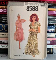 1978 Simplicity Pattern  8588-Boho Pullover by PaperWardrobesEtc