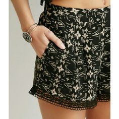 NWT Forever 21 Southwestern Print Shorts Brand new Forever 21 black southwestern print shorts with embroidered trim. Shell & Lining: 100% rayon. Trim: 100% cotton. Size small. Forever 21 Shorts