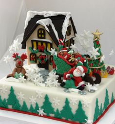 Comes Santa Claus - Cake by Viorica Dinu