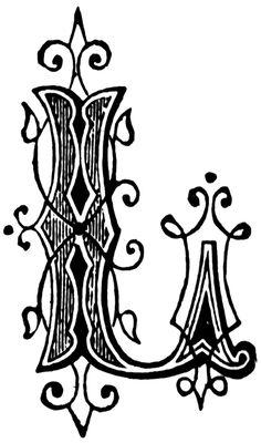 L, Ornamental letter