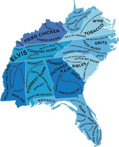 9d932d80d Stereotype Map Of south eastern US states According to the British  Stereotypes Funny, Buzzfeed Uk