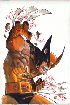 WOLVERINE TURNER COVER RECREATION by HUMBERTO RAMOS Comic Art