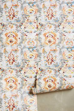 Frosted Kaleidoscope Wallpaper #anthropologie | powder room