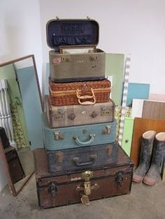 What is it about vintage suitcases?