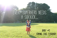 Super Hero Pregnancy Announcement idea for baby number 2 #superhero