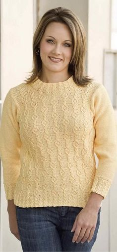 Cable column pullover-knitting pattern CIRCLES AND CABLES COVER A TURTLENECK FOR HER Cable column pullover-knitting pattern Woman's small (medium, large, extra large, 2X-large) instructions are given for smallest size with larger sizes in parentheses, When only 1 number is given, it applies to all sizes. Chest: 34 (38, 42,46, 50) inches Length: 21 (22,23vi, 25,26) […] Free Knitting, Knitting Patterns, Crochet Patterns, Cable Cover, Cable Needle, Bind Off, Edge Stitch, Knit Crochet, Turtle Neck