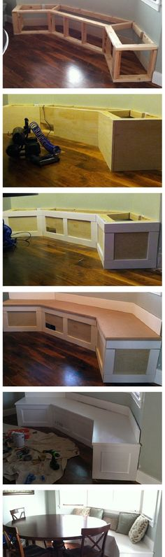 A home may not always be complete without a bay window seat. Whether it is a house or an apartment, you can have at least one. Make sure that these bay window seats are suitable for the whole conce… Home Remodeling, Home Renovation, Sweet Home, Diy Casa, Design Case, My New Room, My Dream Home, Home Projects, Diy Furniture