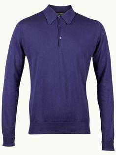 John Smedley Finchley Long Sleeve Polo Shirt - Flag Blue - Available to buy at http://www.afarleycountryattire.co.uk/product-tag/john-smedley-finchley-long-sleeve-polo-shirt/ #johnsmedley #mensfashion #poloshirt #afarleycountryattire