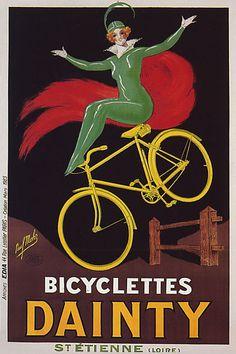 Vintage Bicycle Ad: 'dainty'