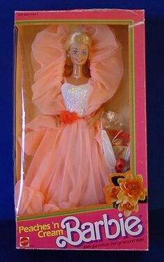 Baby Doll Inducted Into The Toy Hall of Fame Peaches 'N Cream Barbie - classic.don't think I owned one but a few friends did.Peaches 'N Cream Barbie - classic.don't think I owned one but a few friends did. 1980s Barbie, Barbie I, Barbie World, Vintage Barbie, Vintage Toys, 1980s Toys, 1980s Childhood, My Childhood Memories, Post Mortem