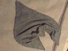 Triangle scarf,  hand dyed Shetland wool