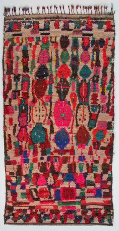 """Tapis de l'Ourika "" vers 1980, Haut-Atlas, Maroc"