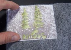 dryer sheet technique, makes it hazy looking. can add glitter. pic tutorial plus video