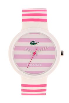 Lacoste Womens Pink Stripe Goa : Watches