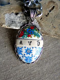 Portugal Antique Azulejo Tile Necklace  Avó or by Atrio on Etsy, $40.00