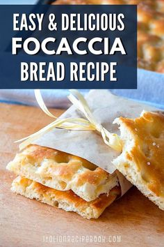 Use this focaccia bread recipe to make the most delicious focaccia at home. This is an authentic Ligurian Focaccia recipe that is perfect as a base for any focaccia topping. Italian Focaccia Recipe, Italian Recipe Book, Italian Bread Recipes, Focaccia Bread Recipe, Rustic Bread, Savory Pastry, Cheese Pies, Pizza Bites, Food To Make