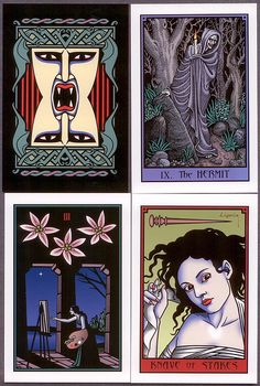 Tarot #36: Vampire Tarot. I like the strong blacks and colours. But I can't use them, they're huge!