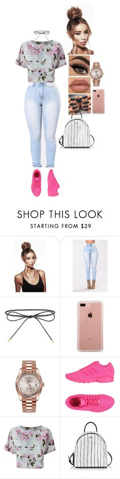 """Untitled #1045"" by medinea ❤ liked on Polyvore featuring Elizabeth and James, Lauren Conrad, Belkin, Rolex, adidas Originals and DKNY"