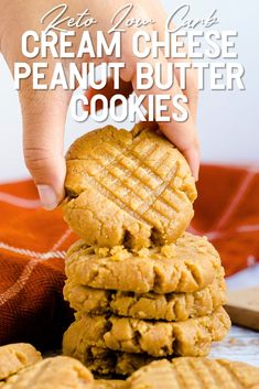 Sugar Free Peanut Butter, Keto Peanut Butter Cookies, Keto Cookies, Yummy Cookies, Low Carb Sweets, Low Carb Desserts, Low Carb Recipes, Ketogenic Desserts, Keto Snacks