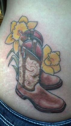 Cowgirl boots and hat tattoo tattoo 39 s by richie streate for Cowboy boot tattoo