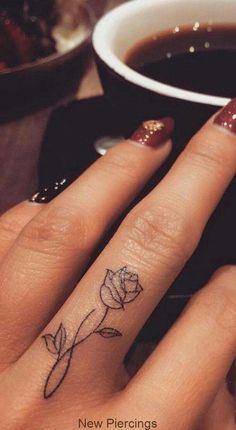 95 finger tattoos for inspiration - Tattoos - tattoos Finger Tattoo Designs, Finger Tattoo For Women, Meaningful Tattoos For Women, Flower Finger Tattoos, Rose Tattoo On Finger, Hand Tattoos For Women, Small Tattoos On Hand, Hand And Finger Tattoos, Simple Hand Tattoos