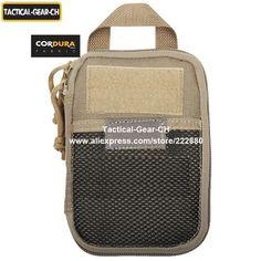 Cordura 1000D Nylon Tactical Wallet Bag MOLLE Alice Tactical Pocket Accessory Bag 4x6 Tactical Pocket Organizer Black