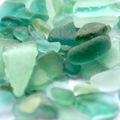aqua beach glass...