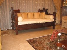 Bali Style Day Bed  Code:- DB02  (with standard single size cushion)  The thinkness and colour of the cushion cover can be chosen.