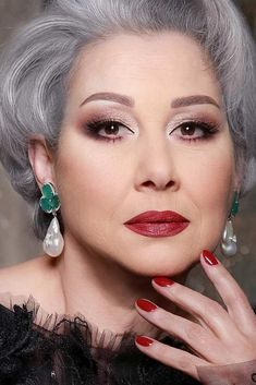 """Make The Lips Plumper #burgundylipstick ★ If you're looking for the best ideas on makeup for older women, search no more. We'll teach you how to look younger with wrinkles by matching the foundation and eyeshadows to your natural features whether you're over 50, over 60, or more. Photos """"before and after"""" provided. ★ #makeupforolderwomen #over50makeup #over60makeup #makeup #makeuptips"""