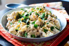 Meatless Monday: Warm Roasted Cauliflower Salad with Chickpeas and Tahini Recipe