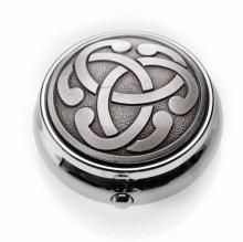 Antique Finish Pillbox Celtic Knot - Timeless Irish Treasures